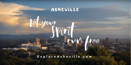 "A new series of advertisements commissioned by Explore Asheville and the Buncombe County Tourism Development Authority showcases Asheville as a destination to travelers and features the tagline ""let your spirit run free."""