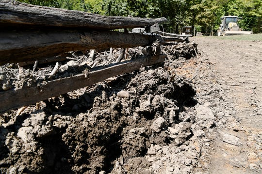 Multiple landslides in the Nantahala Gorge August 25 left debris that could still be seen along the Nantahala River and U.S. 19/74 September 4. Eight miles of the river were under an emergency closure order to the public for all uses.
