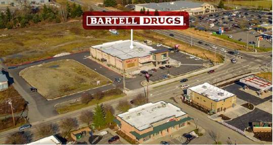 The 1.5 acre plot containing a Bartell Drug store in Arlington,  Snohomish County that DNR will acquire through a trade of 27 acres in Silverdale.