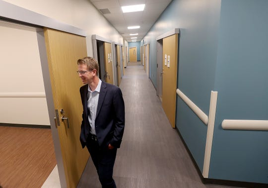 U.S. Rep. Derek Kilmer tours the new VA Puget Sound community-based outpatient clinic in Silverdale on Thursday.