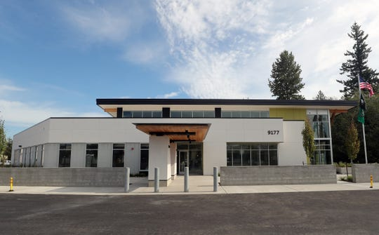 The VA Puget Sound community-based outpatient clinic in Silverdale is nearing completion as seen on Thursday. The new clinic is set to open in December, after which the existing clinic on Adele Avenue in Bremerton will close.