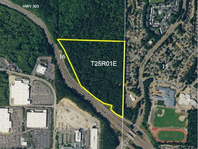 This 27-acre plot of forest in Silverdale is currently owned by the Washington state Department of Natural Resources. Kitsap County is working to acquire the land from DNR.