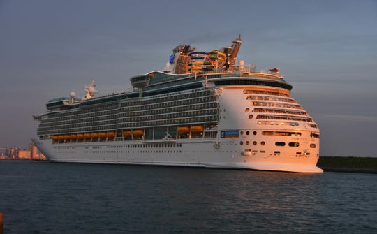 Royal Caribbean's Mariner of the Seas arrives at dawn Thursday at Port Canaveral after an extended sailing, a result of Hurricane Dorian.