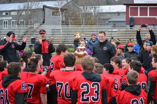 Led by coach Nick Michaud, the Buccaneers won the Northern Vermont Football League championship in 2016. Michaud, now the head coach at Mount Mansfield Union High School, brings his Cougars into Hinesburg to play CVU and face many of his former players.