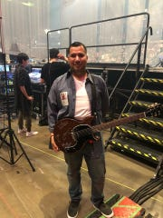 Tom Guerra of Corpus Christi had the chance to perform live with Grammy-award winning band Maná Wednesday night at the American Bank Center.