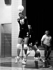 Photographs from 1992 volleyball games with Jackson, Southeastern, McClain, Paint Valley, Huntington and Southeastern high schools.
