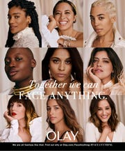 Part of Olay's 'Face Anything' campaign aimed at empowering women to be bold and to fight narrow definitions of women's roles.
