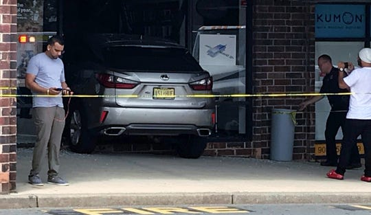 The scene of the crash at the Verizon store at the Inman Grove Shopping Center Sunday, Sept. 1.