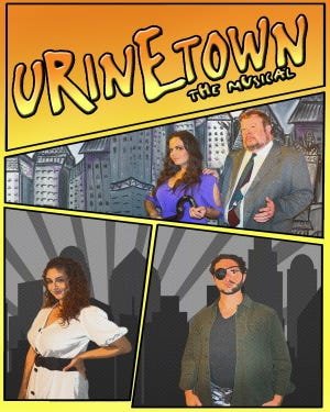 """Urinetown,"" the musical comedy, is being presented through Sunday, Sept. 22, at the Somerset Valley Players in Hillsborough.  ~Courtesy of Somerset Valley Players"