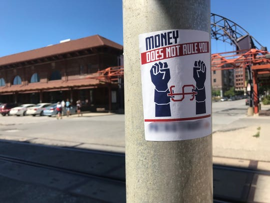 Patriot Front, whose propaganda was found in Des Moines' downtown Wednesday, posted hate stickers all around the country.
