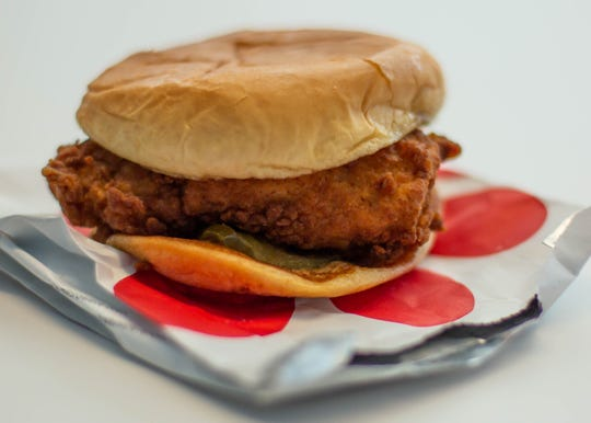 A classic chicken sandwich from Chick-fil-A at the Detroit Free Press office, Thursday, Sept. 5, 2019.
