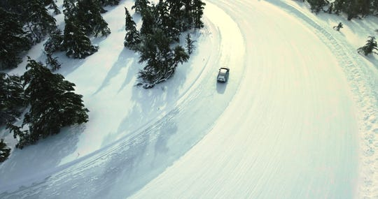 Ford has tested its battery electric vehicle in the northern Michigan snow.