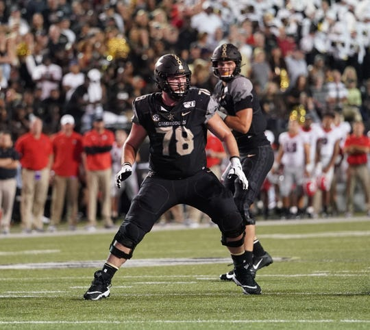 Bryce Bailey (78) protects Vanderbilt quarterback Riley Neal in the Commodores' 30-6 season-opening loss to Georgia last Saturday. Bailey hopes to earn another start against Purdue.