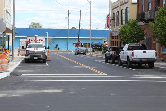 The city has completed resurfacing work on a section of Garrison Street from Front Street to Bidwell Avenue.