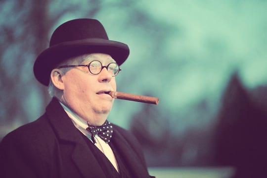 "Actor Randy Otto stars in ""Winston Churchill: The Blitz"""