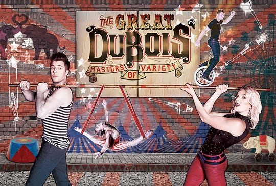 """Circus act """"The Great DuBois: Masters of Variety"""" will be the first show to appear in BIG ARTS' new performing arts hall."""