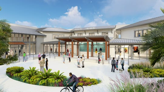 An artist's rendering of BIG ARTS' new $14 million building, expected to open for its first show in February 2020.