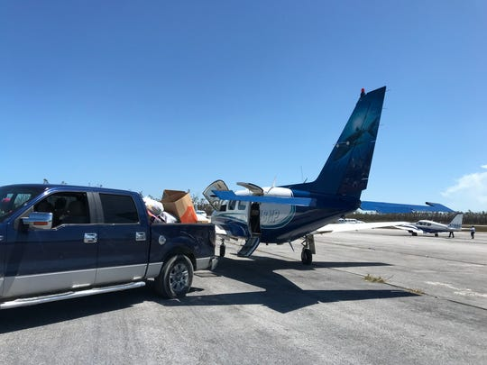 A sponsored flight with relief supplies for the Hurricane Damian-battered Bahamas was made by Arrow Jets Thursday. The flight, paid for by Ashley and Ed Brown,  founders of the Selflesslove Foundation left from Pompano Beach and landed in Treasure Cay to deliver the supplies.  Naomi Baldino of Arrow Jets worked with Elbert and Regina Hepburn of Elnet Maritime to arrange the pickup on both sides and collected the supplies from donations collected in the Miami area at Interiors by Steven G.