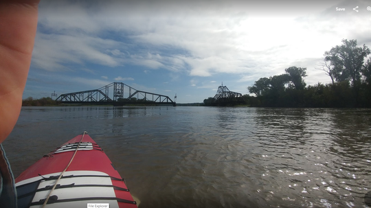 Mark Juras said as an engineer he has appreciated the bridges he has seen along the trip, noting they are designed to allow barge traffic. This photo is taken by Juras from his boat The Sturnella.