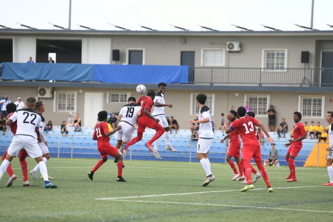 Maldives faced off against Guam's Matao team in a FIFA World Cup prequalifier match Thursday, Sept. 5, 2019.