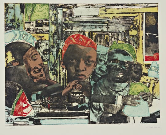 Romare Bearden's The Train will be on display at New Symphony of Time Organized by the Mississippi Museum of Art beginning Saturday, Sept. 7, 2019.