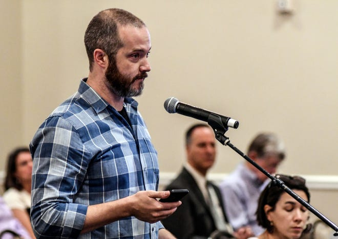 "Ole Miss Sociology Professor James Thomas speaks as the Board of Trustees of State Institutions of Higher Learning last year. Thomas is being investigated by the state auditor's office for participating in a two day ""Scholar Strike"" last week. Strikes are banned in Mississippi."