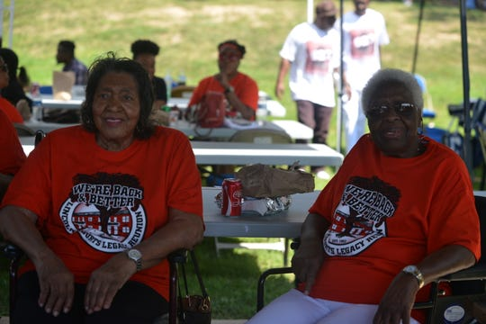 Frankie Nell Croom and Guy Eula Douglass lived in Lincoln Courts in the early 1950s. They attended the Lincoln Courts Legacy Reunion picnic Saturday.