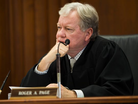 Tennessee Supreme Court Justice Roger A. Page in Knoxville on Wednesday, Sept., 4, 2019.