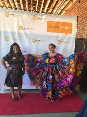 Luci Diego and Griselda Sandoval join in the convivial spirit at the 2018 Latino Awards Gala. August 23, 2018.
