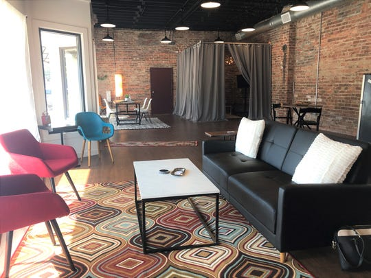 """It's hard to juggle your portfolio and walk when you meet in a client in a coffee shop,"" said StudioWed owner Travis Woodall. ""We love coffee shops, but this gives somebody space to do this. It's a cohesive space, it's like home."""