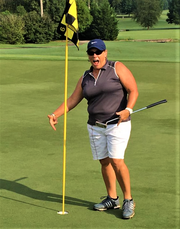 A hole-in-one is exciting for any player, even a professional. Louise Ball got that thrill during play at Willow Creek Golf Course.