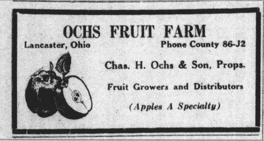 This ad appeared in the Eagle-Gazette Oct. 13, 1936. At this time Charles Ochs was 68 and his son Clarence was 45 years old.