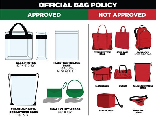 Hometown Rising Official Bag Policy