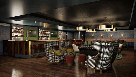A rendering of the now-updated Jockey Silks Bourbon Bar.