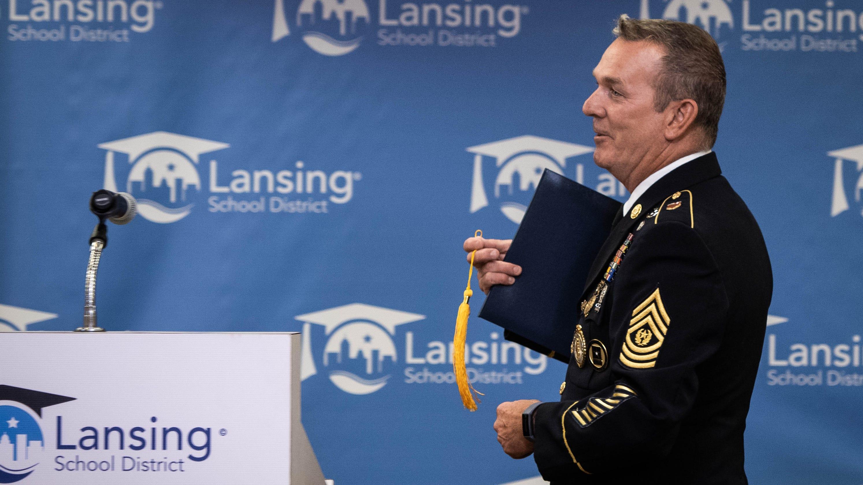 Grand Ledge man gets Lansing Eastern High School diploma 45