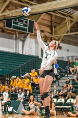 Michigan State junior Meredith Norris goes on the attack.
