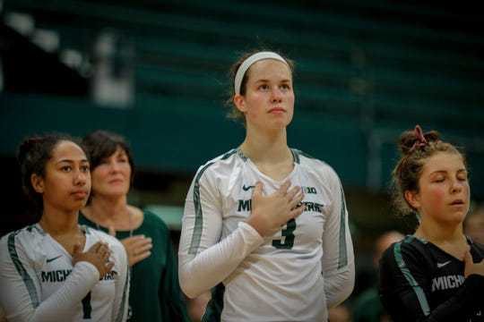 Michigan State outside hitter Meredith Norris is looking to take a larger leadership role now that she's a junior.