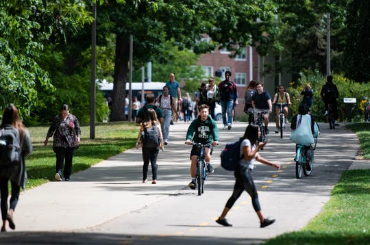 Among Michigan State University's challenges this fall: Convincing its students and new students to enroll, despite what could be a very different experience.