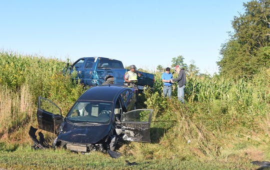 Three vehicles were involved in an accident Thursday morning just north of Vantilburg Road on Ohio 545.