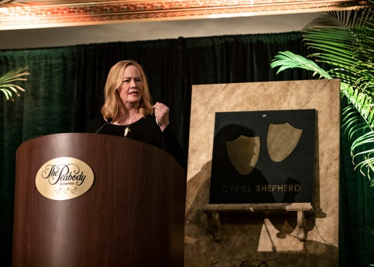 "Cybill Shepherd said being inducted into the Duck Walk Hall of Fame was like ""coming home."""