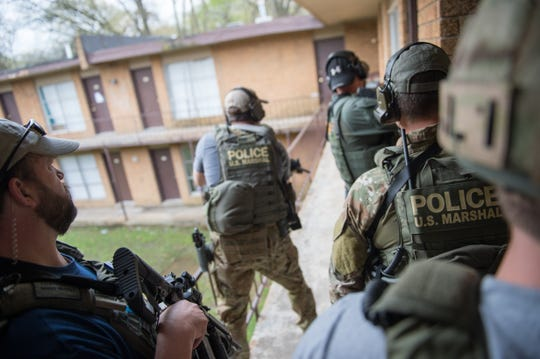 The U.S. Marshals Service in a 2015 Memphis operation.