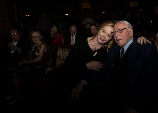 Peabody Hotel owner Jack Belz was on hand to welcome actress Cybill Shepherd into the Duck Walk Hall of Fame.