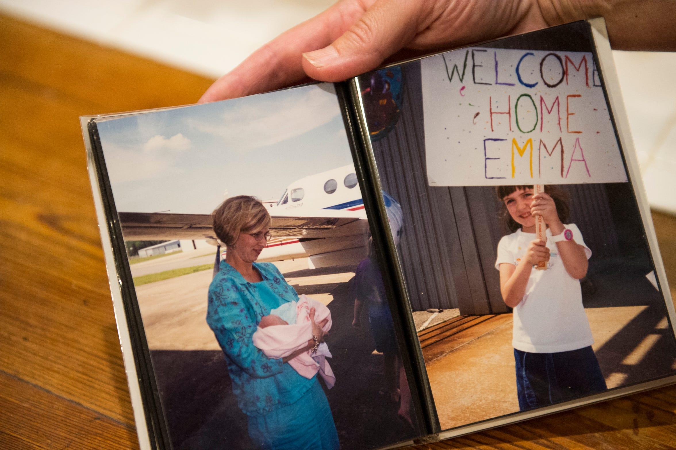 Photos of Dawn Wendland holding her newborn daughter, Emma, who was born with three congenital heart defects at the Wendland home in Autaugaville, Ala., on Wednesday, Aug. 28, 2019.