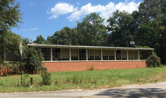 The former Dunbar Elementary School in Ramer, Ala.