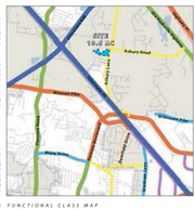 This map shows in light blue where a proposed 60 homes will be built on 10.6 acres in a Pretoria Falls subdivision along the southwest corner of Asbury Lane and Asbury Road. Neighbors have concerns about the safety of the roads especially at the Asbury Lane intersection with Medical Center Parkway near Interstate 24.