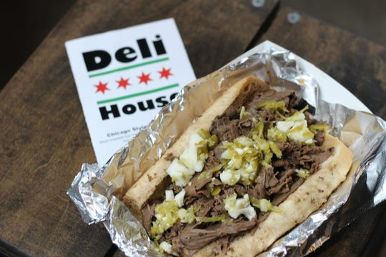 Chicago Style Italian Beef Sandwich from Deli House.
