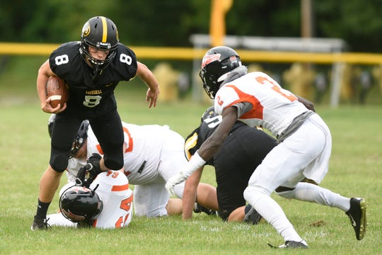 Hasbrouck Heights football at Cresskill on Thursday, September 5, 2019. C #8 Tim Coffey.