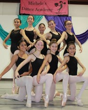Members of the 2019 Las Cruces Chamber Ballet are (top, from left): Camille Lopez, Callista Wilcox, Katie Jackson, Amber Hernandez and Persephanie Avilucea and (bottom, from left): Nevaeh Holguin, Emma Jackson, Chaley Cartwright, Isabelle Campos.