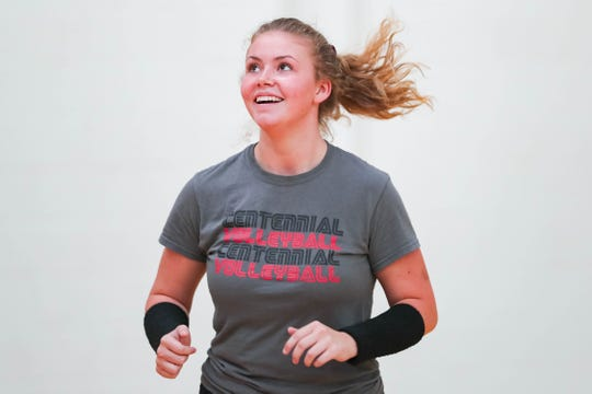 Centennial setter Cora Dubois has continued to play volleyball for the Hawks after losing her older sister to a car accident in August.