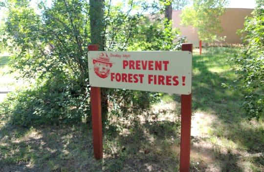 A reminder at the Smokey Bear Historical Park keeping Smokey Bear's legacy alive.